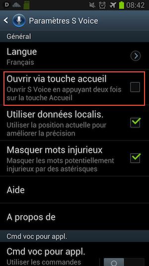 svoice Samsung Galaxy S3 / S4   Eviter les ralentissement quand on clique sur le bouton Accueil