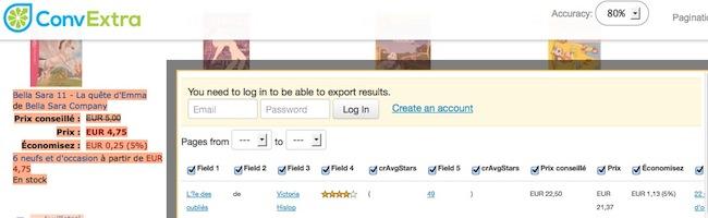 Comment extraire en données structurées les infos contenues sur des pages web