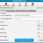 gadmin sshd server settings 150x150 Une interface pour vos logiciels GNU/Linux