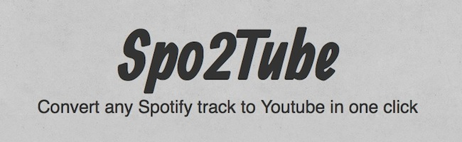 Convertissez un lien Spotify en clip Youtube