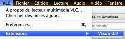 vlsub Une extension VLC pour récupérer facilement des sous titres