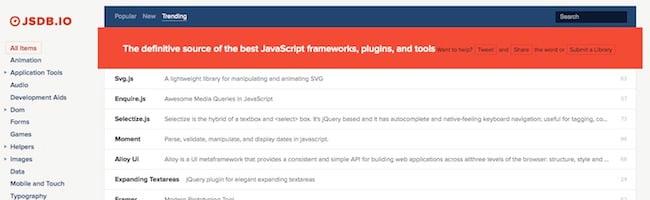Une bibliothèque de bibliothèques Javascript