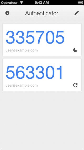 Attention à la mise à jour de Google Authenticator sous iOS7