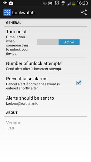 booyah Lockwatch   Pour savoir qui essaye de fouiller dans votre portable