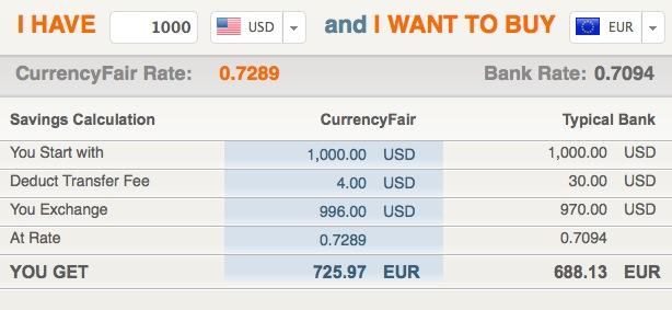 La conversion de devise en P2P (sans frais bancaires) by Korben Currencyfair