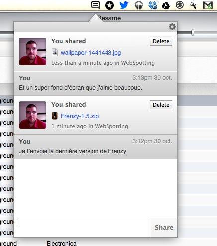 frenzy Frenzy   Un réseau social basé sur Dropbox