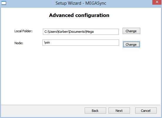 mega1 Synchronisez un répertoire Windows avec Mega