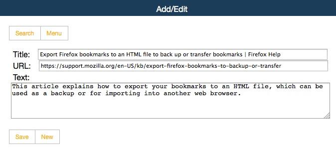 pse1 Un moteur de recherche pour vos bookmarks