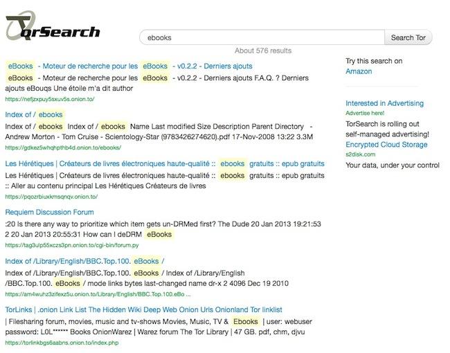 torsearch2 Le moteur de recherche des sites Tor