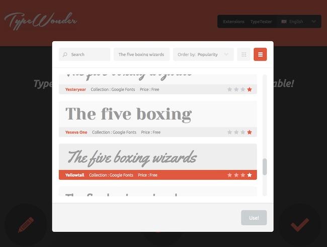 typewonder2 Un outil pour vous aider à choisir la Google Font quil vous faut