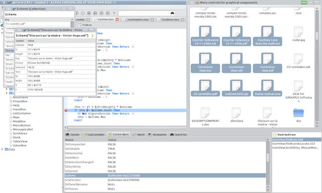 ide debug Un EDI comme Visual Basic mais pour Linux