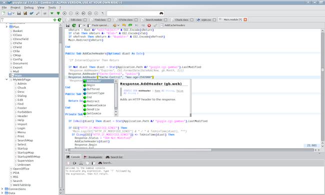 ide editor Un EDI comme Visual Basic mais pour Linux