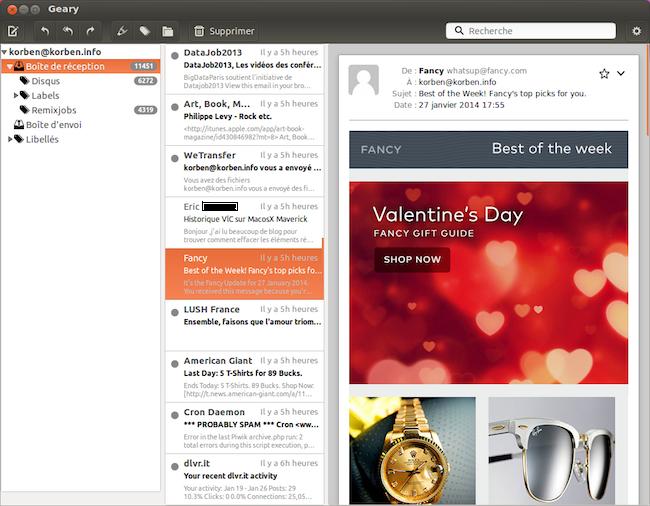 Geary – Un client mail léger pour Gnome – Korben