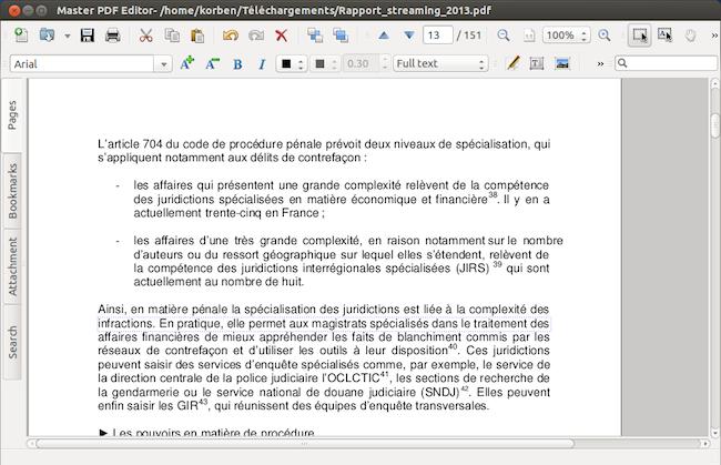 masterPDF Master PDF   Modifier un PDF sous Linux