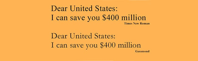 Garamond – La police qui pourrait faire économiser 400 millions de dollars aux Etats-Unis