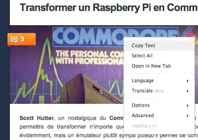 comm Copier du texte à partir dune image grâce à cette extension pour Chrome