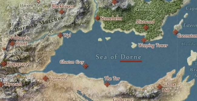 dorne Game of Thrones   La carte interactive