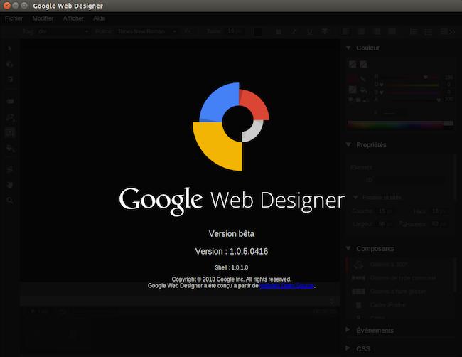 logo1 Google Web Designer dispo sous Linux