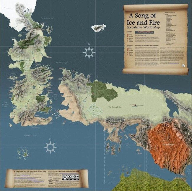 map Game of Thrones   La carte interactive