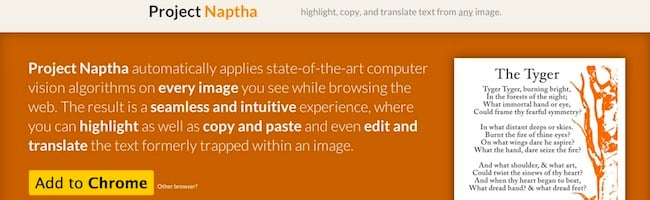Copier du texte à partir d'une image grâce à cette extension pour Chrome