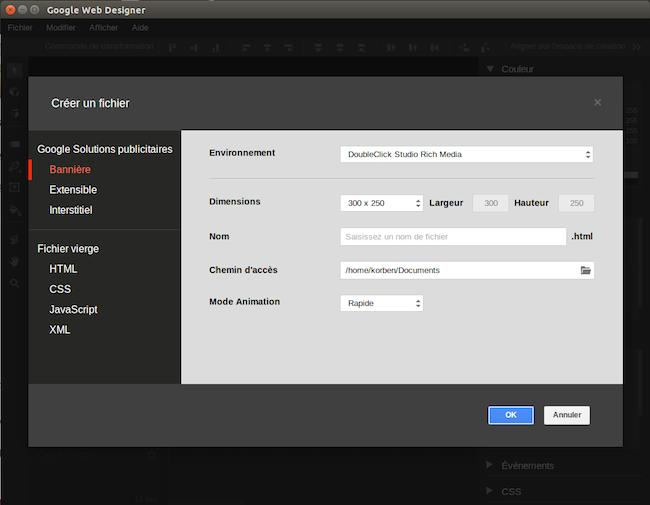 news Google Web Designer dispo sous Linux