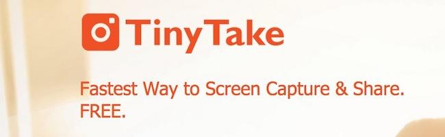 TinyTake – Annotez vos captures écran facilement