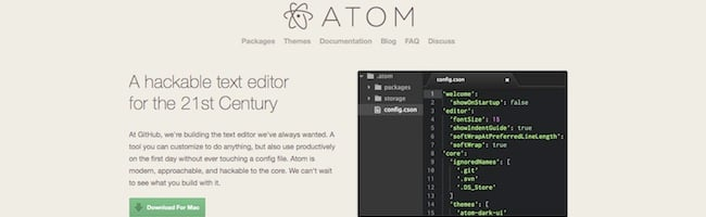 Editeur de code Atom