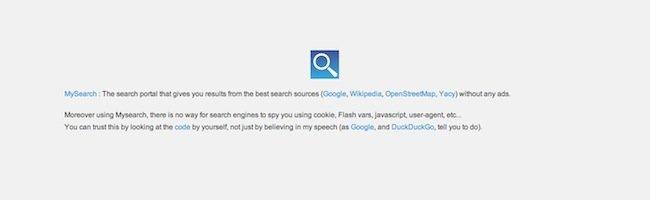 MySearch – Un script pour anonymiser vos recherches sur le net