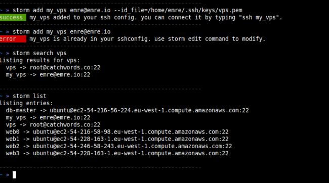 storm gerez vos connexions ssh boss 650x362 Storm   Gérez vos connexions SSH comme un boss