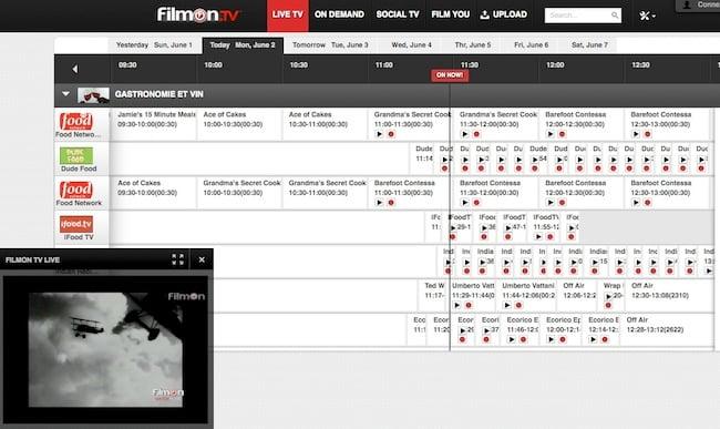 filmontv regarder tele internet FilmOnTV   Regarder la télé par Internet