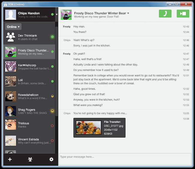 tox Tox   Un clone de Skype totalement sécurisé et décentralisé