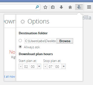 134158 Programmer une plage horaire pour les téléchargements dans Firefox