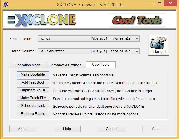 options XxClone   Mieux quune sauvegarde, un clonage de votre disque