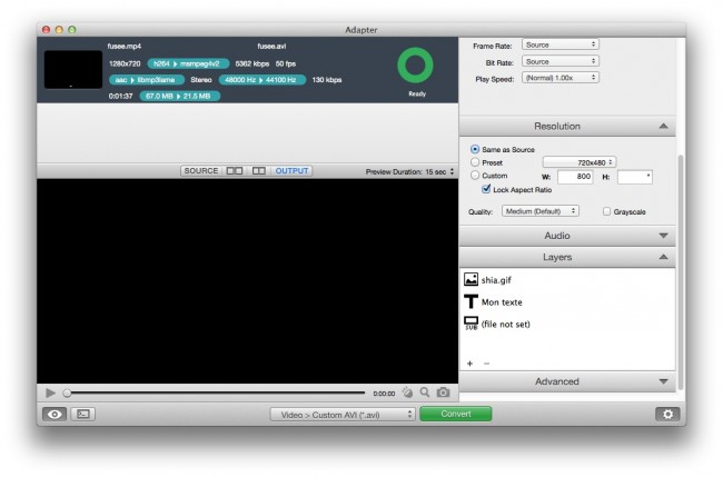 export 650x429 Adapter   Pour convertir vos vidéos, images et sons facilement