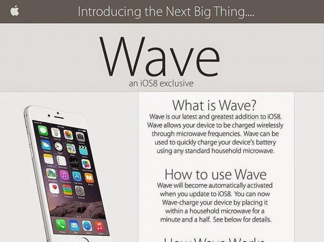 apple wave 650x487 Comment recharger son iPhone dans un micro onde ?