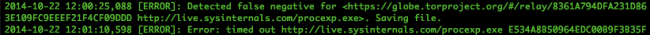 falsenegative 650x35 Découverte dun noeud TOR qui insére un malware dans les exécutables que vous téléchargez