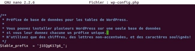 nanoprefixwpconfig 650x170 Sécuriser WordPress Linstallation
