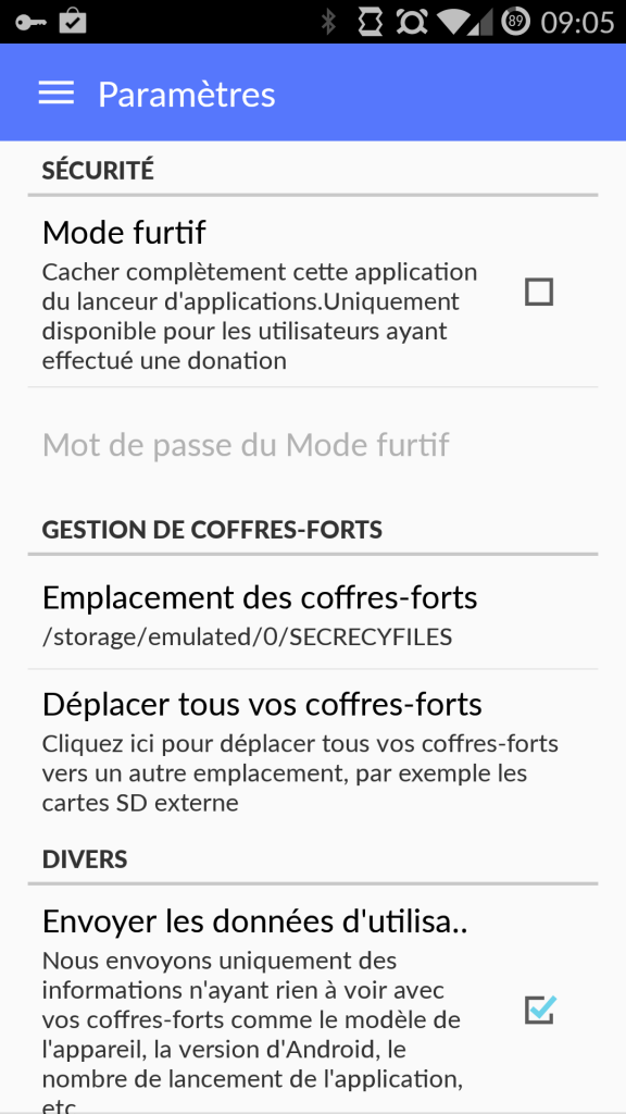 options 576x1024 Secrecy   Une application Android pour garder tous vos secrets
