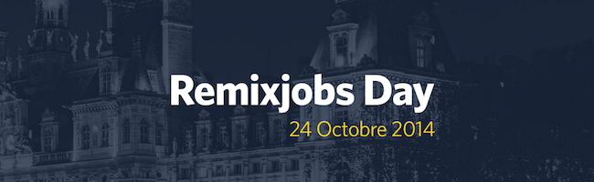 Le 24 octobre, c'est Remixjobs Day à la Mairie de Paris – Inscrivez-vous !