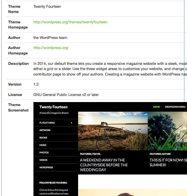 theme Comment savoir quel thème Wordpress ce site utilise ?