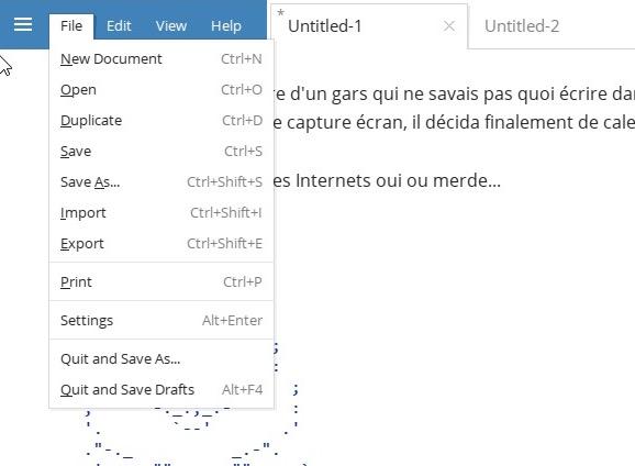 write editeur texte minimaliste classe2 Write !   Un éditeur de texte minimaliste qui a la classe
