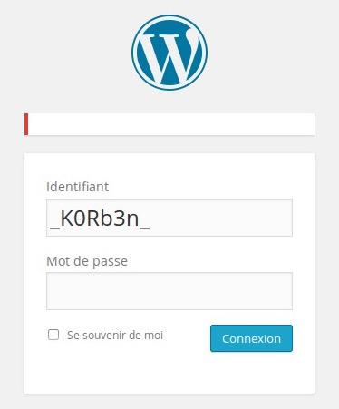 corrige Sécuriser Wordpress   Masquer les erreurs de login