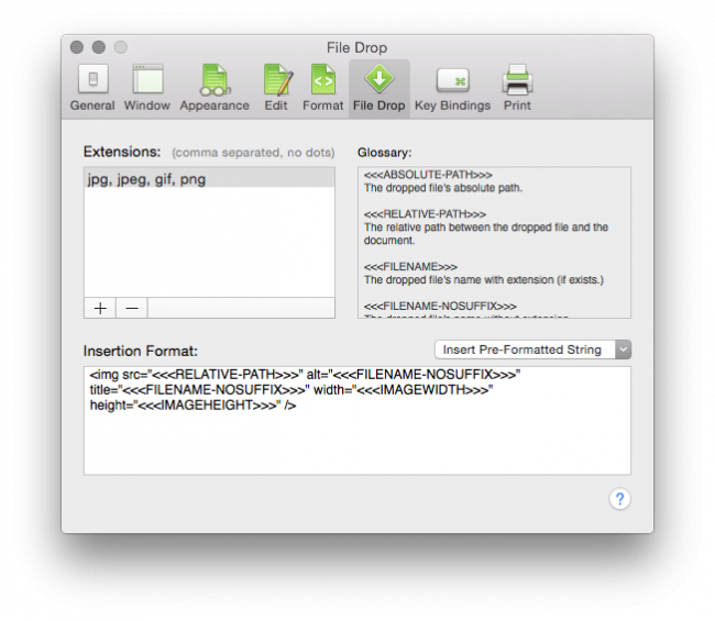preferences 650x565 CotEditor   Un éditeur de texte à la Notepad++ pour OSX