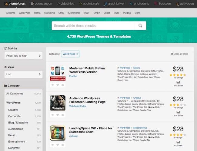 themeforest Sécuriser WordPress – Les thèmes