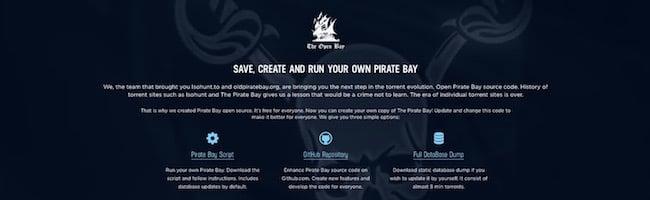 Créez votre propre The Pirate Bay