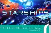 Test du jeu Startship de Sid Meier
