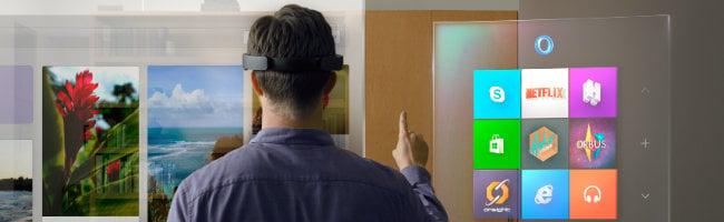 Premier test de l'HoloLens de Microsoft