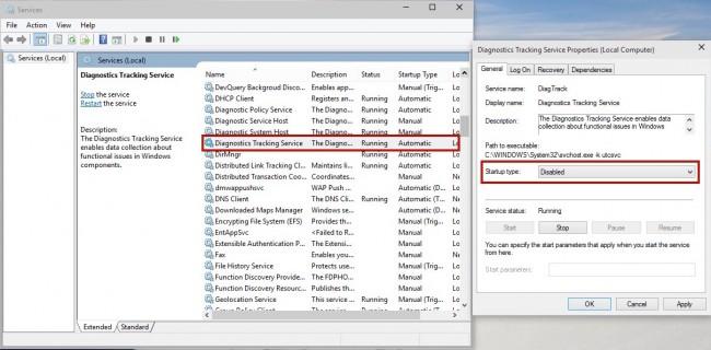 Comment désactiver les mouchards de Windows 7, 8 et 10 Crap-650x320