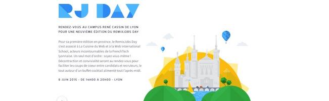 Remixjobs débarque à Lyon le 8 juin. Ne manquez pas votre prochain job de rêve.
