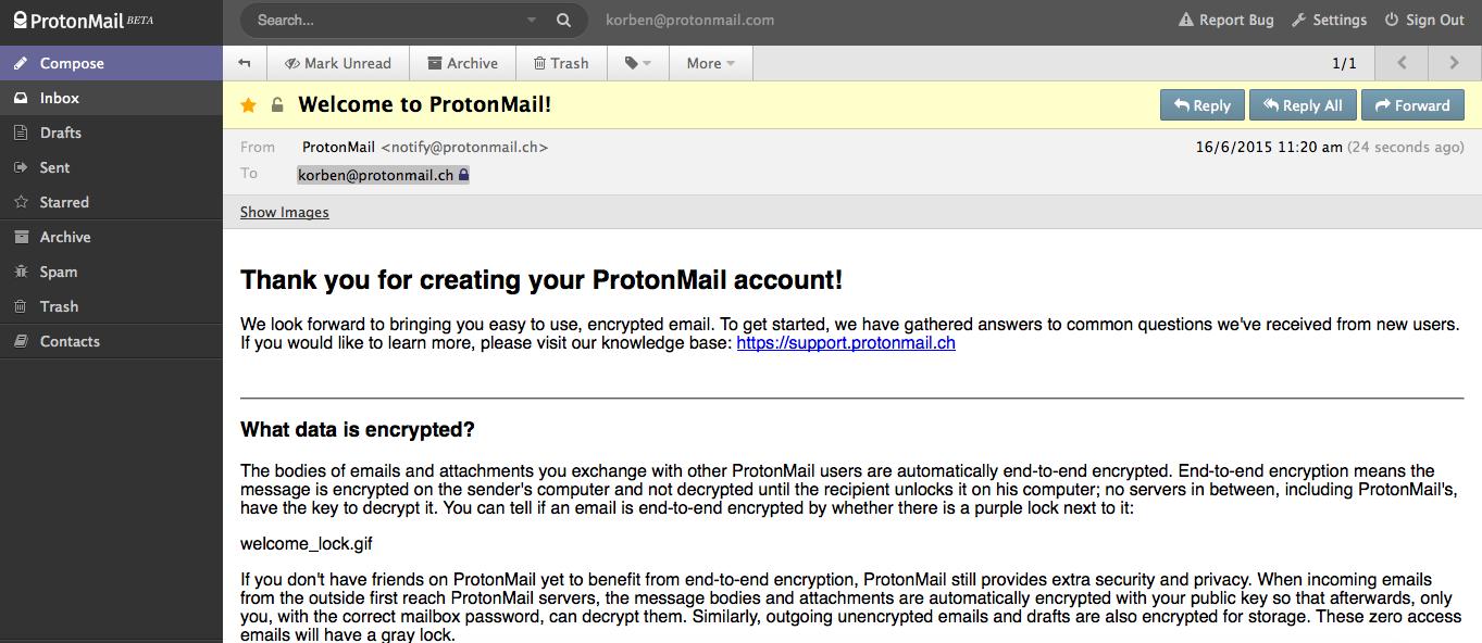 C'est le moment de vous inscrire sur ProtonMail – Korben